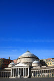 Church of San Francesco di Paola of Piazza del Plebiscito. Famous sight seeing destination in Naples Italy Royalty Free Stock Photos