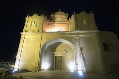 Church of San Francesco in Gallipoli. By night Stock Photography