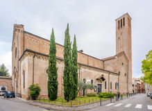 Church San Francesco in Treviso. TREVISO, ITALY - SEPTEMBER 13, 2014 - Church San Francesco in Treviso. Treviso stands at the river Sile in region Veneto stock photos