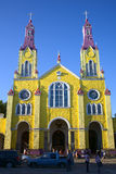 Church of San Francisco in Castro, Chiloe Archipelago, Chile Royalty Free Stock Photography