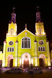 Church of San Francisco in Castro, Chiloe Archipelago, Chile Stock Images