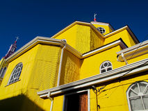Church of San Francisco, Chiloe, Chile Stock Photos