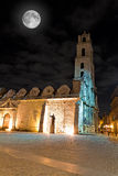 The Church of San Francisco in Havana at night Royalty Free Stock Image