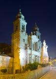 Church of San Francisco in night. Santiago de Compostela,  Galicia Stock Photo
