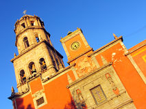 Church of San Francisco in Queretaro, Mexico. Historic Church of San Francisco in the colonial city of Queretaro, Mexico royalty free stock photography