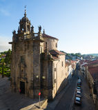 Church of San Fructuoso in day time. Santiago de Compostela Stock Photo