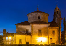 Church of San Fructuoso in night Royalty Free Stock Photography