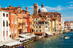 Church San Geremia and hotels on Grand Canal Royalty Free Stock Photo
