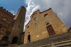 Church at San Gimignano, Italy stock photos