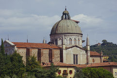 Church San Giorgio by the Adige river Royalty Free Stock Photography