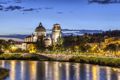 Church San Giorgio in Braida,Verona, Italy Stock Photo