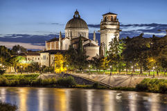 Church San Giorgio in Braida,Verona, Italy Stock Photography