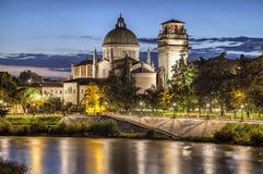 Church San Giorgio in Braida,Verona, Italy stock photography