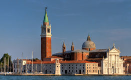 Church of San Giorgio Maggiore. In Venice, Italy captured during a sunny late afternoon Royalty Free Stock Photos