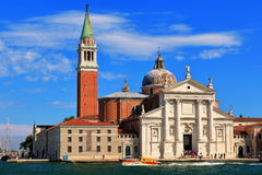 Church of San Giorgio Maggiore at evening. Venice, Italy Royalty Free Stock Images