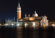 Church of San Giorgio Maggiore at night Stock Images