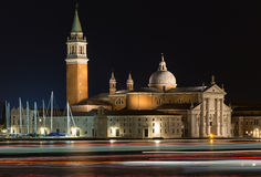 Church of San Giorgio Maggiore at night Stock Photography