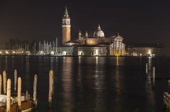 Church of San Giorgio Maggiore at night Royalty Free Stock Images