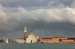 Church of San Giorgio Maggiore after the storm Royalty Free Stock Photos