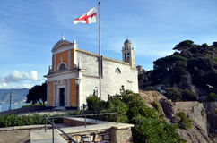 Church of San Giorgio in Portofino, Liguria, Italia Royalty Free Stock Photos