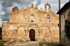 The church San Giovanni in Siracusa, Italy. Siracusa, Sicily, church of San Giovanni, Italian destination. Catacombs entrance Stock Photos