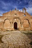 The church San Giovanni in Siracusa, Italy. Siracusa, Sicily, church of San Giovanni, Italian destination. Catacombs entrance Stock Image