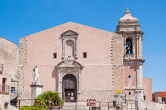 The church of San Giuliano, Sicily, Italy Stock Photos