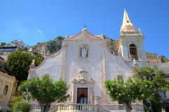 Church of San Giuseppe in Toarmina. Royalty Free Stock Photos
