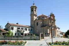 The church of San Grato at Penango on Piedmont Stock Photo