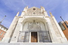 Church of San Jeronimo, Madrid. Stock Photo
