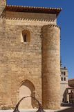Church of San Juan and the background church of Santa Maria, Ara. Nda de Duero, Burgos province, Spain Royalty Free Stock Photo