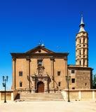 Church of San Juan de los Panetes in Zaragoza Stock Images