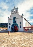 Church of San Juan in the town of San Juan Chamula, Chiapas royalty free stock image