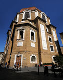 Church of San Lorenzo with the entrance of Cappelle Medicee in Florence. Royalty Free Stock Image