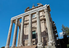 The church of San Lorenzo in Miranda in the Forum Roman Royalty Free Stock Photo