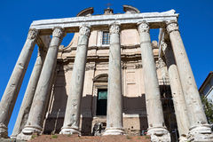The church of San Lorenzo in Miranda in the Forum Roman Stock Images