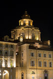 Church of San Lorenzo by Night - Turin Italy Royalty Free Stock Image