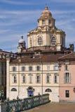 The Church of San Lorenzo, Turin Stock Images