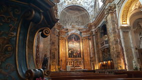 Church of San Luigi dei Francesi. Interior of Church of Saint Louis of the French or San Luigi dei Francesi in Rome, Italy Royalty Free Stock Image