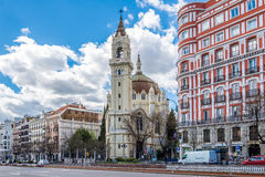Church of San Manuel and San Benito in Madrid. MADRID,SPAIN - APRIL 24,2016 - Church of San Manuel and San Benito in Madrid.The Church of San Manuel y San Benito stock photography