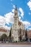 Church of San Manuel and San Benito in Madrid. MADRID,SPAIN - APRIL 24,2016 - Church of San Manuel and San Benito in Madrid.The Church of San Manuel y San Benito royalty free stock images