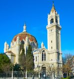 Famous Madrid church, Spain Royalty Free Stock Photography