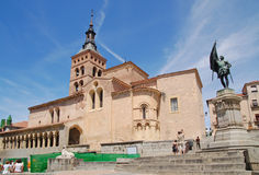 The Church of San Martin in Segovia Stock Photography