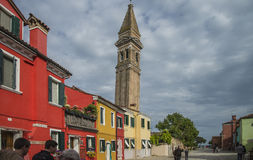 The church of San Martino in Burano Royalty Free Stock Images