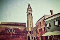 Church San Martino di Burano Royalty Free Stock Photography