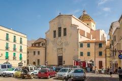 Church San Michele of Alghero in Sardinia Royalty Free Stock Photography