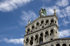 Church of San Michele facade detail - Lucca Stock Image