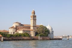 The Church of San michele in Isola on the cemetery island in Ven Royalty Free Stock Images