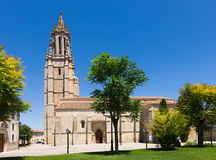 Church of San Miguel in Ampudia Stock Photos