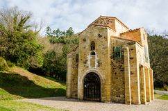Church of San Miguel de Lillo, Oviedo, Asturias, Spain. Pre-romanesque building, UNESCO World Heritage Site. royalty free stock image